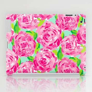 Roses (Lilly Pulitzer style) iPad Case by uramarinka
