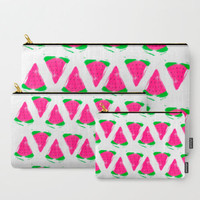 Carry All Pouches - 3 Sizes - Watermelon Art - Made to Order