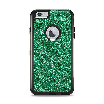 The Green Glitter Print Apple iPhone 6 Plus Otterbox Commuter Case Skin Set