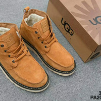 UGG : Man bow leather boots boots in tube