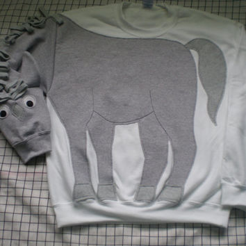 Horse sweatshirt, pony shirt, horse shirt. Adult sizes small, medium, large and x-large.