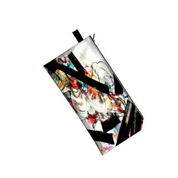 Women wristlet - abstract art - coin purse - change purse - clutch bag - women accessories - coin pouch