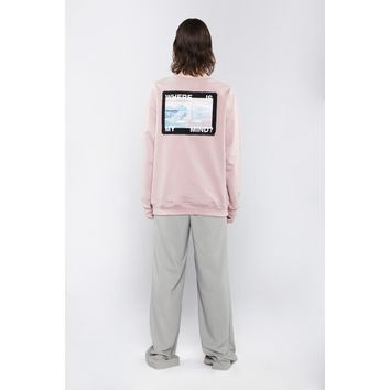 ICEBERG DIY SWEATSHIRT IN PINK
