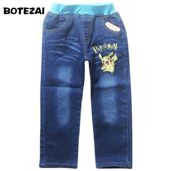 Children Baby Jeans Pokemon Trousers