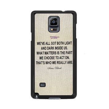 Harry Potter - Sirius Black Quote Samsung Galaxy Note 3 | 4 Cover Cases