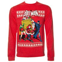 Batman & Robin Santa Sweatshirt (Red)
