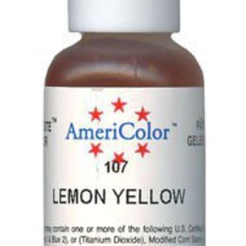 Lemon Yellow - Soft Gel Paste Food Coloring by AmeriColor | cute - Craft Supplies on ArtFire