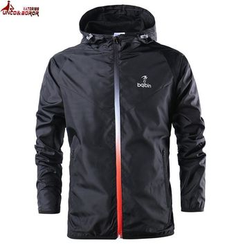 Mens' s thin Jackets hooded Sportswear coat