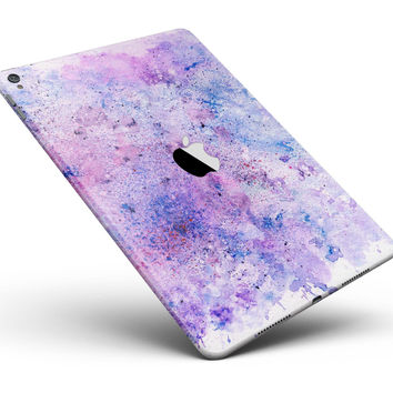 """Blotted Pink and Purple Texture Full Body Skin for the iPad Pro (12.9"""" or 9.7"""" available)"""