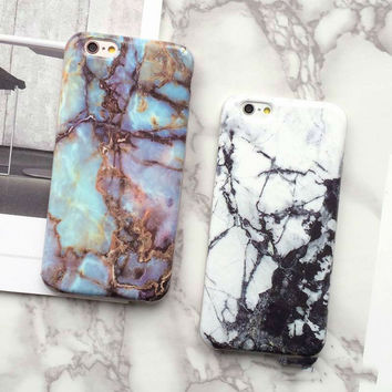 2016 Hot Selling Fashion Marble Phone Case for iPhone 7 7 plus iPhone 6 6S 6 Plus SE 5s 5 Soft Smooth TPU Full Cover case Ultra-thin Back Cover+Nice Gift Box!