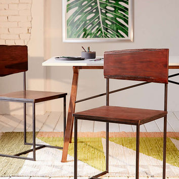 Live Edge Wood Dining Chair Set - Urban Outfitters