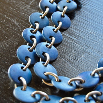 Blue Linked Necklace Set