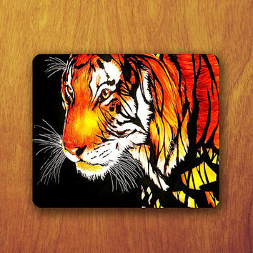 Tiger Painting Mouse Pad Beautiful Animal Colorful Abstract MousePad Office Pad Work Accessory Personalized Custom Gift