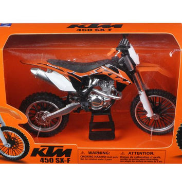 KTM 450 SX-F Diecast Motorcycle Model 1-10 by New Ray