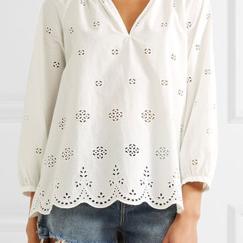 Madewell - Broderie anglaise cotton top