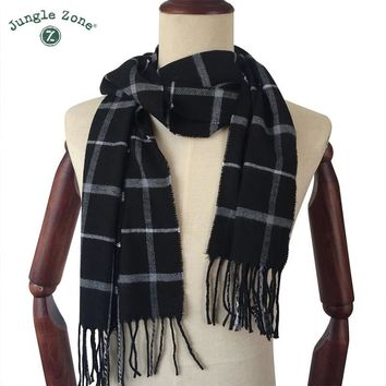 Winter Scarf 2018 Cashmere Scarf Plaid Blanket Scarf New Designer men wool plaid bandana Scarves and Wraps WJ16