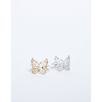 Flutter Away Butterfly Ring