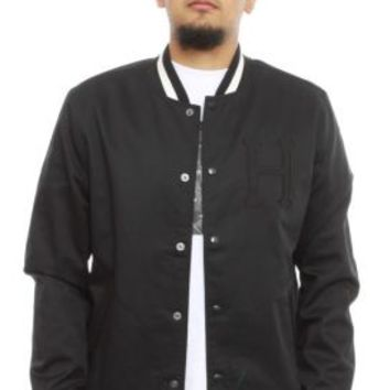 Huf, Classic H Varsity Jacket - Black - Outerwear - MOOSE Limited