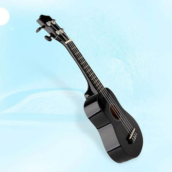 "Vintage 21"" Acoustic Soprano Hawaii Strings Ukulele Musical Instrument black = 1945975620"
