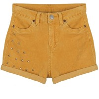 Roll-up Studded Shorts