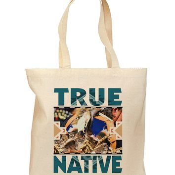 True Native American Grocery Tote Bag - Natural