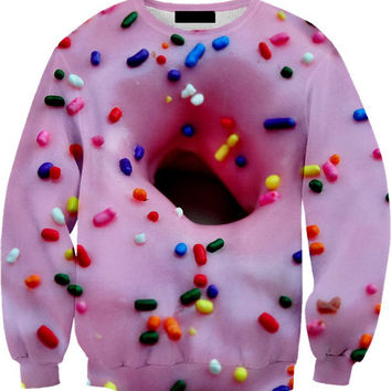 PINK FROSTED SPRINKLED DOUGHNUT Sweater