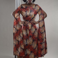 NEW IN:  I Flow - red batik Kebbah inspired dress by Gitas PORTAL