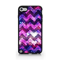 Chevron Pattern - Galaxy - Glitter - iPod Touch Gen 5 Black Case (C) Andre Gift Shop
