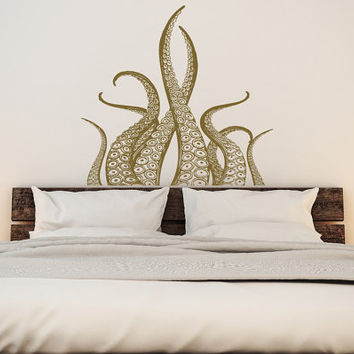 Octopus Tentacles Wall Decal Kraken Art- Octopus Decal Nautical Decor- Tentacles Decal Ocean Decor- Kraken Decal Marine Life Wall Art #54