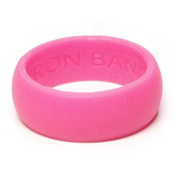 Rubber Silicone Wedding Ring - Award Winning Medical Grade Bands (Blue, Lime Green, Gray, Navy, Pink, Purple)