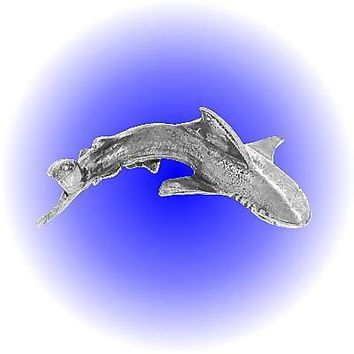 Attacking Shark Pewter Figurine  lead free