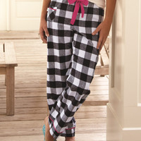 Patterned and Colorful Flannel Pants with Ribbon Tie