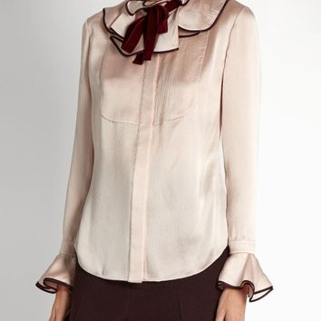 Tuvalu seersucker-silk blouse | Roksanda | MATCHESFASHION.COM US