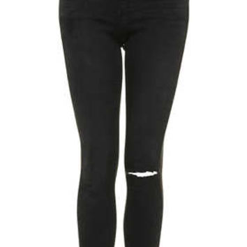 MOTO Washed Black Leigh Jeans - Washed Black
