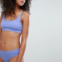 Weekday Soft Seamless Crop Bra & Brief Lingerie Set at asos.com