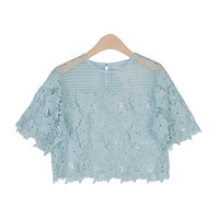 Flower Crochet Laced Crop Top