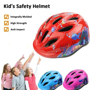 Children's cycling helmet Integrally Molded boy and girl bicycle hat skating sports helmet