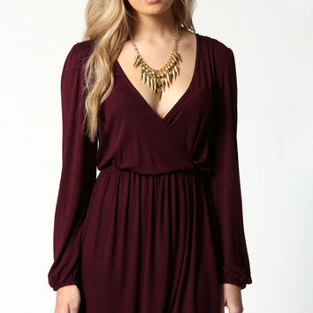 Adriana Jersey Long Sleeve Wrap Dress