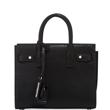 Saint Laurent Supple Sac de Jour Python Satchel Bag