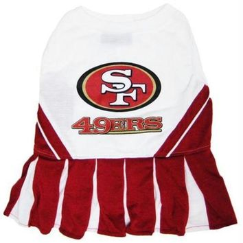 CUPUPHP San Francisco 49ers Cheerleader Dog Dress
