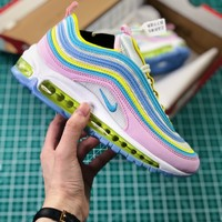 Theshoegame X Nike Air Max 97 Corduroy Pink Bb7898-123 Sport Running Shoes - Best Online Sale