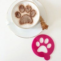 Pet Paw Print Coffee Stencil from Peggy & Flo | Made By Peggy & Flo | £5.95 | BOUF