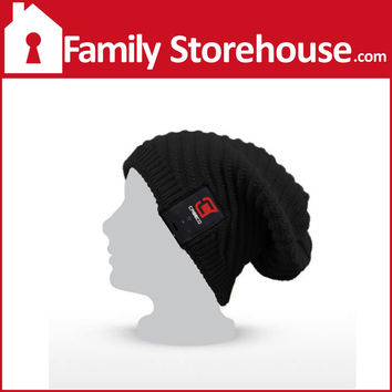 Blu-Toque Bluetooth Slouch Hat, Black by Caseco