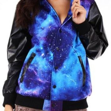 Jacket - Galaxy - Jackets - Jackets & Outerwear - Women - Modekungen - Fashion Online | Clothing, Shoes & Accessories