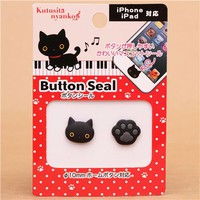 3D Kutusita Nyanko cat paw iPhone iPad button sticker - Cellphone Accessories - Accessories