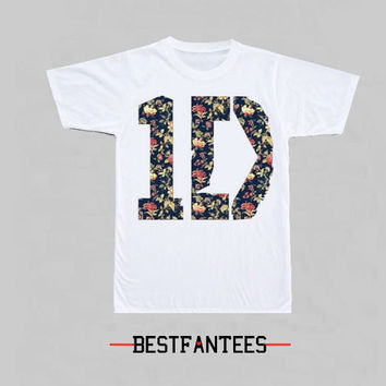 One Direction Flower Print T-Shirt 060