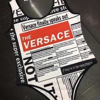 Versace Summer New Fashion Women One Piece Swimsuits Swimwear Bikini Suit