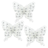 White Gem Butterfly Christmas Tree Ornament Set
