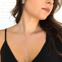 Set The Bar Dainty Layered Necklace in Gold