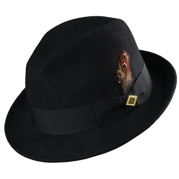 Stacy Adams Wool Fedora w/ Trim